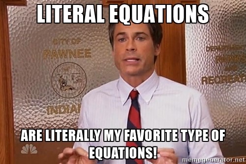 literal-equations