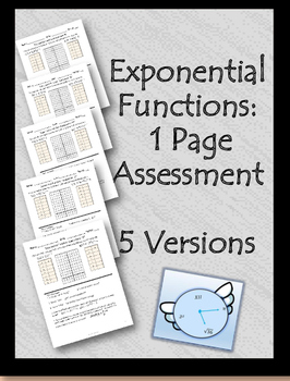Exponential Functions Assessment
